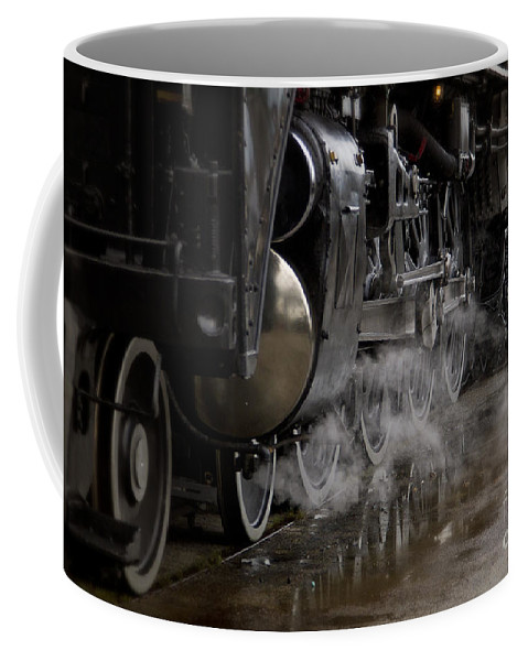 Train Coffee Mug featuring the photograph Steam Wheels by Dennis Hedberg