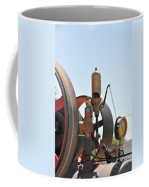 Steam Coffee Mug featuring the photograph Steam Whistle by Valerie Kirkwood