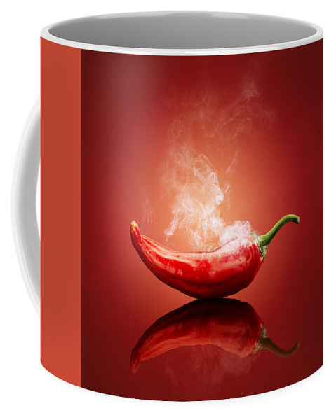 Chilli Coffee Mug featuring the photograph Steaming hot Chilli by Johan Swanepoel