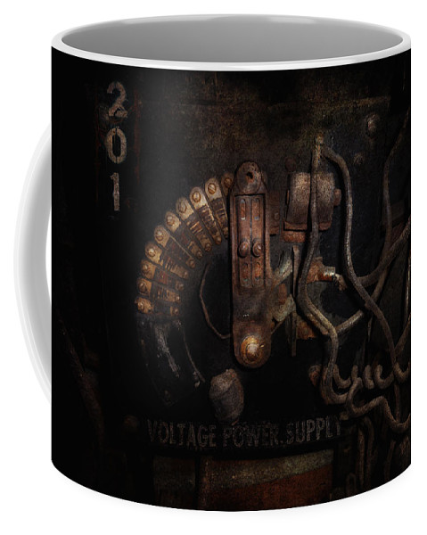 Hdr Coffee Mug featuring the photograph Steampunk - Electrical - Rotary Switch by Mike Savad