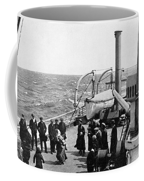 1914 Coffee Mug featuring the photograph Steamship 1914 by Granger