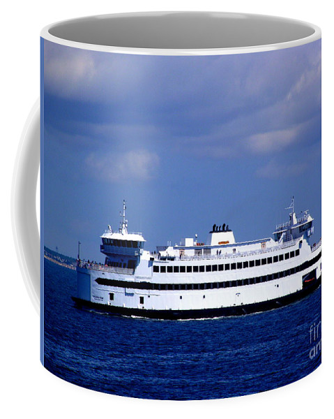 Steamship Authority Ferry Coffee Mug featuring the photograph Steamship Authority Ferry by CapeScapes Fine Art Photography