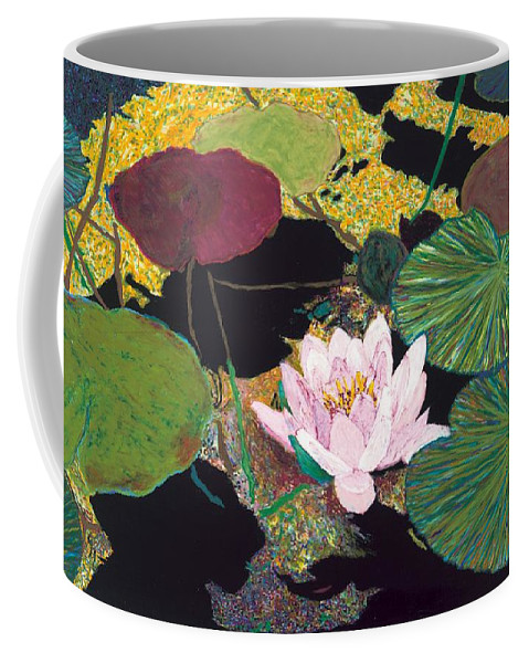 Landscape Coffee Mug featuring the painting Steamy Pond by Allan P Friedlander