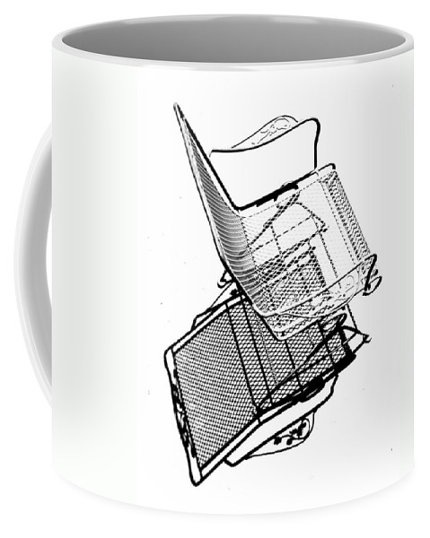 Chair Coffee Mug featuring the photograph Steel Chair by Christopher McKenzie