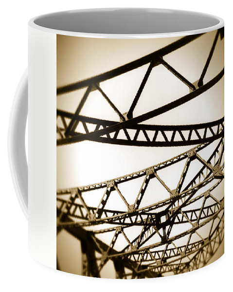 Steel Coffee Mug featuring the photograph Steel Lines by Timothy Bischoff