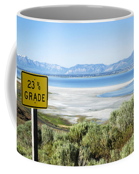 Great Salt Lake Coffee Mug featuring the photograph Steep Hill by Bob Pardue