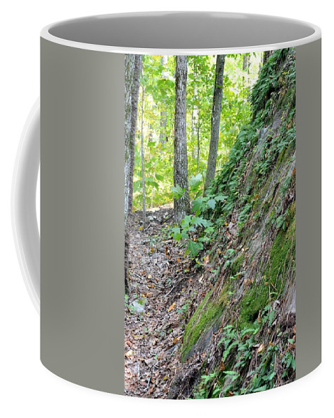 Steep Incline Around The Mountain Coffee Mug featuring the photograph Steep Incline Around The Mountain by Maria Urso