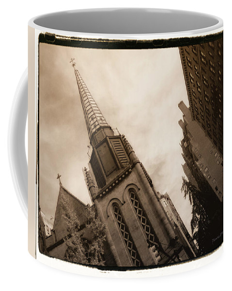 New York Coffee Mug featuring the photograph Steeple Chase by Donna Blackhall