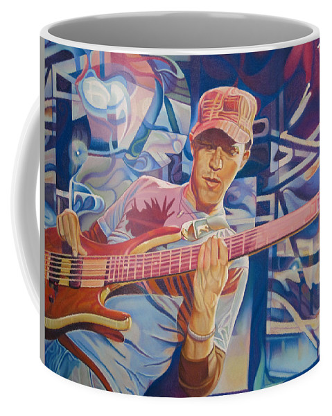 Syefan Lessard Coffee Mug featuring the drawing Stefan Lessard And 2006 Lights by Joshua Morton
