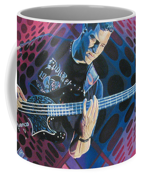 Stefan Lessard Coffee Mug featuring the drawing Stefan Lessard-pop-op Series by Joshua Morton