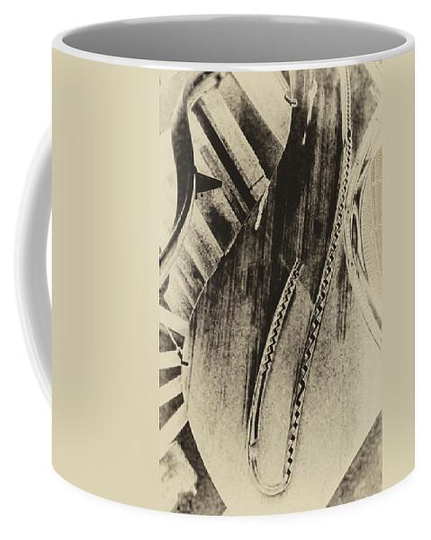 Steinway Piano Coffee Mug featuring the digital art Steinway Piano Inners by Georgianne Giese