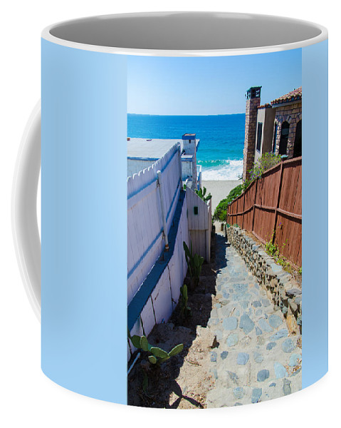 Aliso Creek Beach Coffee Mug featuring the photograph Aliso Creek Beach Access by Robert VanDerWal