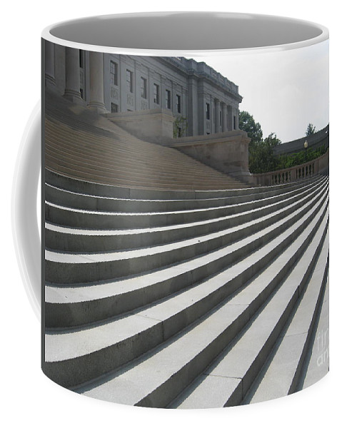Columbia Sc Coffee Mug featuring the digital art Steps Of Justice by Matthew Seufer
