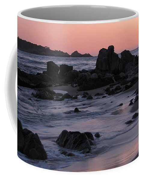 Carmel Coffee Mug featuring the photograph Stewart's Cove At Sunset by James B Toy