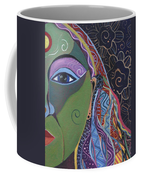 Woman Coffee Mug featuring the painting Still A Mystery 5 by Helena Tiainen