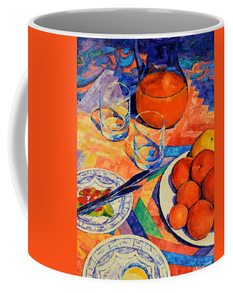 Still Life Coffee Mug featuring the painting Still Life 1 by Iliyan Bozhanov
