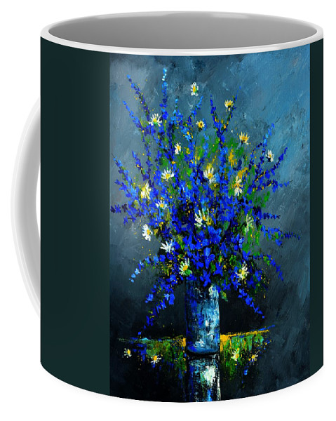 Flowers Coffee Mug featuring the painting Still life 675130 by Pol Ledent