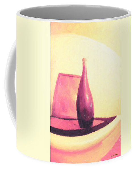 Giclee Coffee Mug featuring the painting Still Life In Pink by Angela Stanton