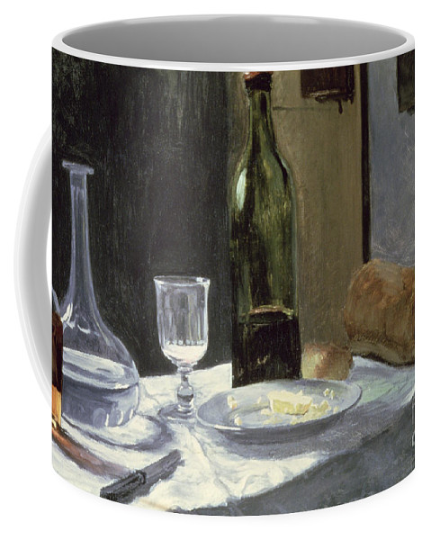 Impressionist Coffee Mug featuring the painting Still Life With Bottles by Claude Monet
