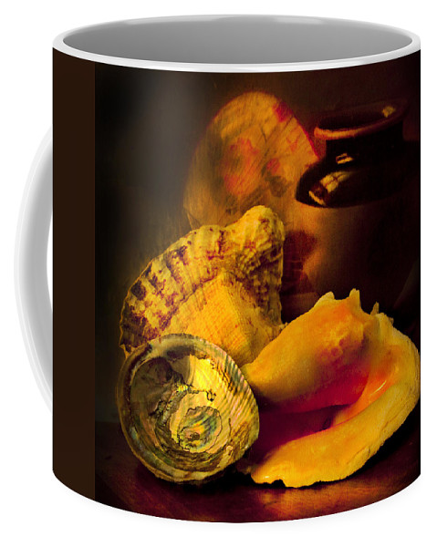 Chiaroscuro Coffee Mug featuring the photograph Still Life With Shells by Theresa Tahara
