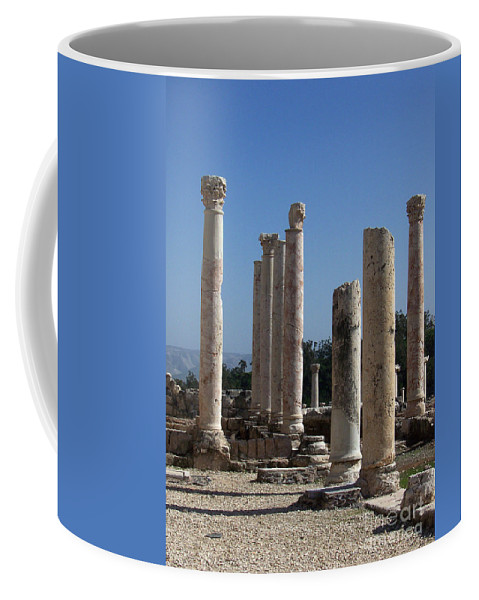 Israel Coffee Mug featuring the photograph Still Standing by Kathy McClure