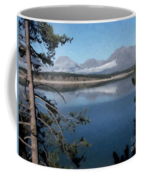Lake Coffee Mug featuring the photograph Still Waters by Linda Koelbel