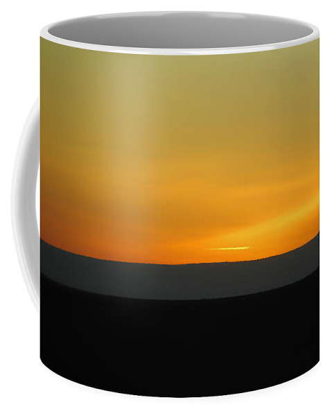 Sunset Coffee Mug featuring the photograph Stiped Sunset by Donna Blackhall