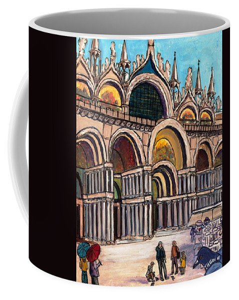 Tmgand Coffee Mug featuring the painting St.mark's Square by TM Gand