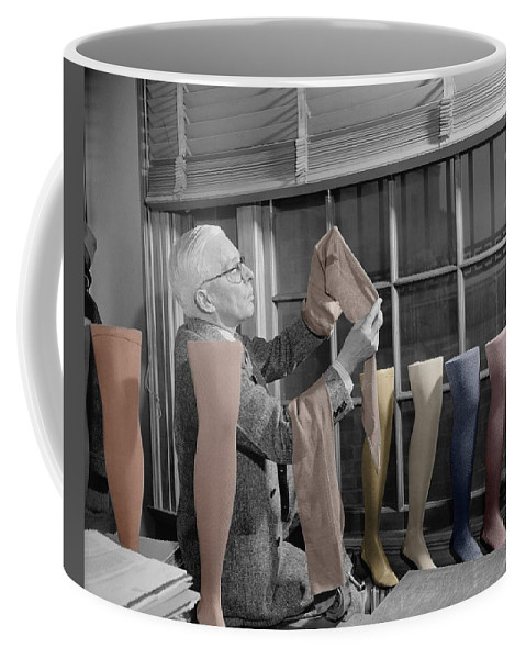 Hosiery Coffee Mug featuring the photograph Stocking Inspector by Andrew Fare