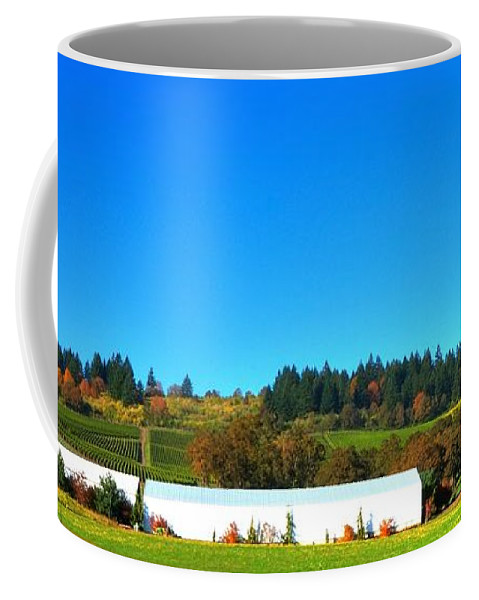 Fall Coffee Mug featuring the photograph Stoller Storage Driveway 19828 by Jerry Sodorff