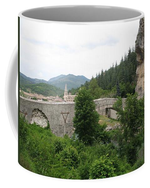 Bridge Coffee Mug featuring the photograph Stone Arch Bridge Over River Verdon by Christiane Schulze Art And Photography