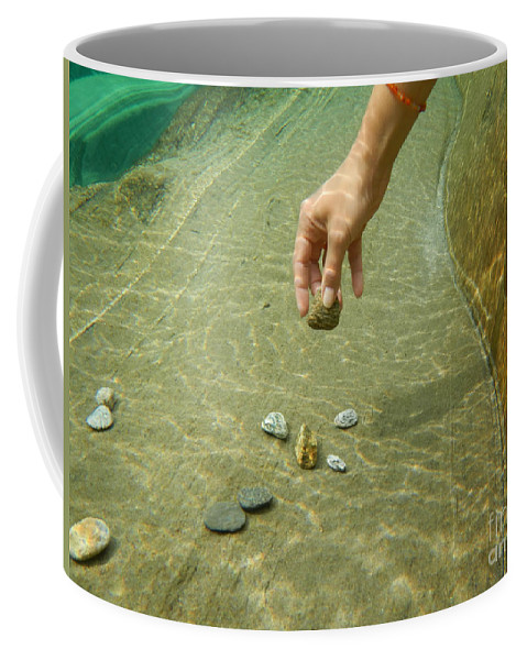 Hand Coffee Mug featuring the photograph Stone by Mats Silvan