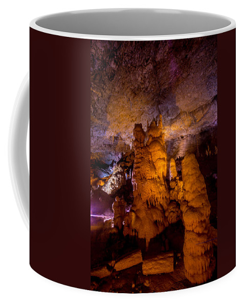 Stalactite Cave Coffee Mug featuring the photograph Stone Pillars by Mark Perelmuter