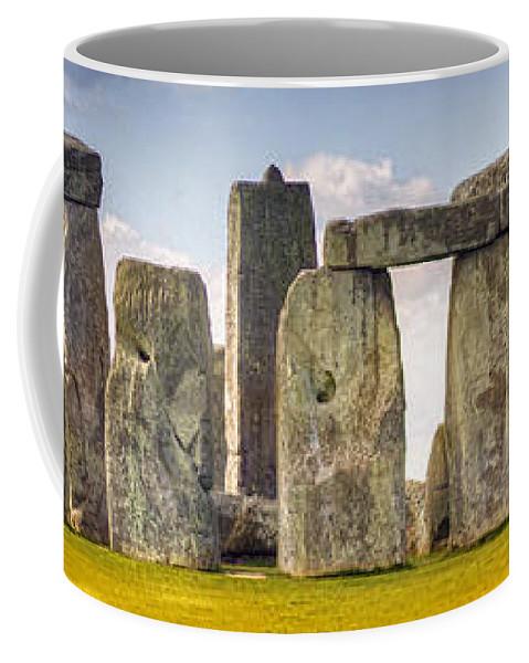 Yhun Suarez Coffee Mug featuring the photograph Stonehenge Panorama by Yhun Suarez