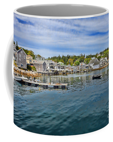 Maine Coffee Mug featuring the photograph Stonington In Maine by Olivier Le Queinec