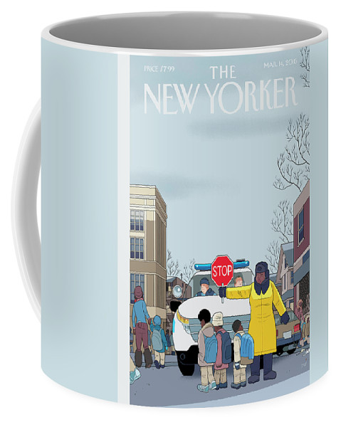 Police Coffee Mug featuring the painting Stop by Chris Ware