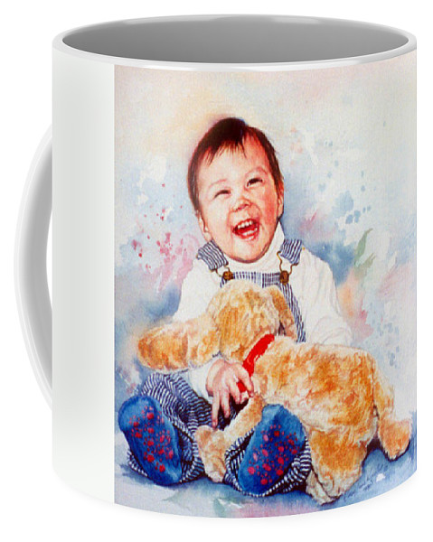 Baby Portrait Coffee Mug featuring the painting Stop Tickling by Hanne Lore Koehler