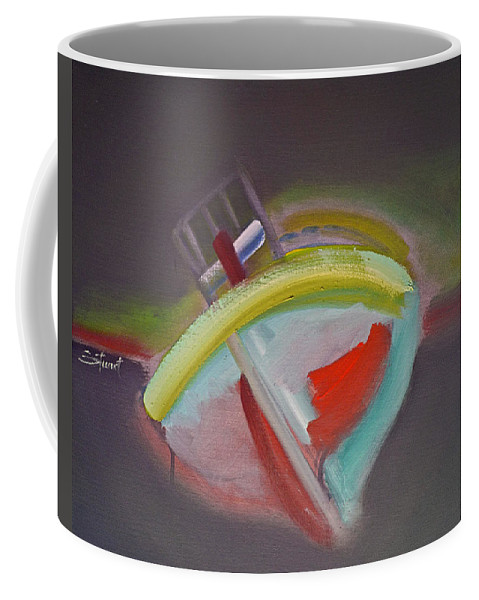 Fishing Boat Coffee Mug featuring the painting Storm Beach by Charles Stuart