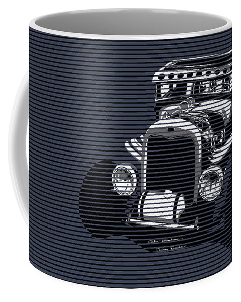 Ford Coffee Mug featuring the painting Storm Blue Rat by MOTORVATE STUDIO Colin Tresadern