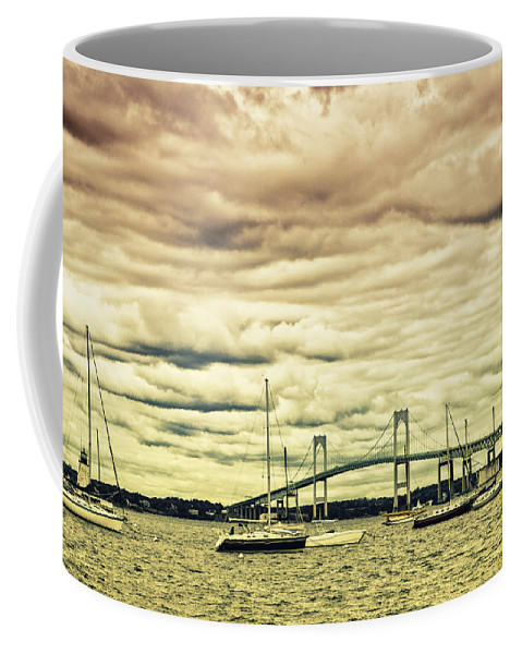 Coastal Coffee Mug featuring the photograph Storm Brewing In Newport by Karol Livote