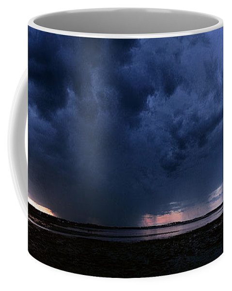 Storm Cell Coffee Mug featuring the photograph Storm Cell Over Lubec Maine by Marty Saccone