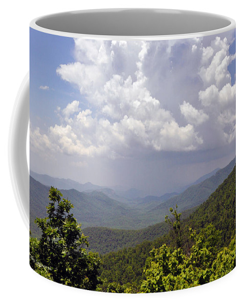 Landscape Coffee Mug featuring the photograph Storm Clouds by Kay Lovingood