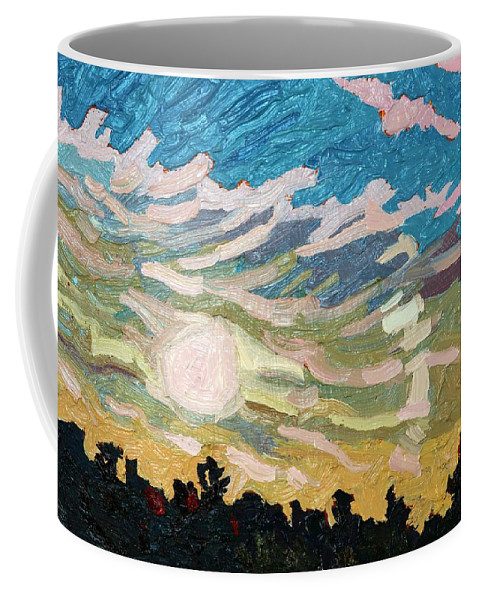 Halo Coffee Mug featuring the painting Storm Comin' by Phil Chadwick