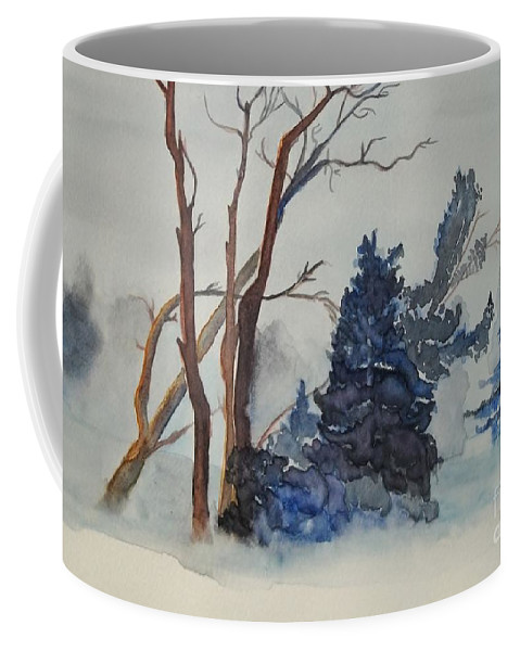 Storm Coffee Mug featuring the painting Storm by Lise PICHE