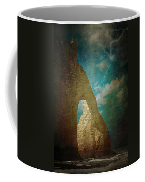 Loriental Coffee Mug featuring the photograph Storm Over Etretat by Loriental Photography