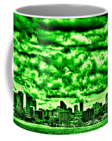Space Needle Coffee Mug featuring the photograph Storm Over The Emerald City by David Patterson