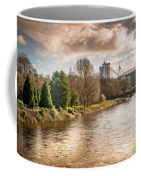 Bute Park Coffee Mug featuring the photograph Storm Over The Taf by Mark Llewellyn