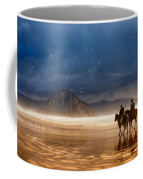 Seascape Coffee Mug featuring the photograph Storm Riders by Beth Sargent
