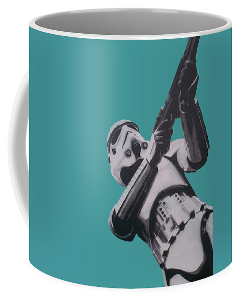 Star Wars Coffee Mug featuring the painting Stormtrooper by Gary Hogben