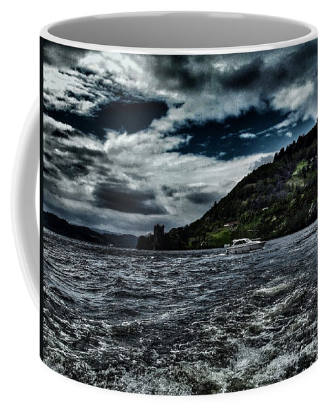 Urquhart Castle Coffee Mug featuring the photograph Stormy Loch Ness by Joan-Violet Stretch